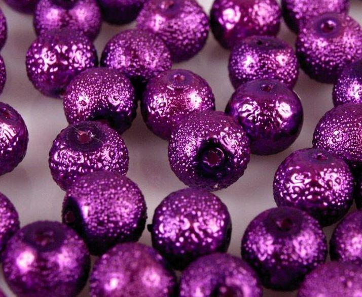 Voskované perly strukturované Ø12 mm - 1ks