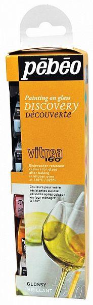 Sada Discovery Vitrea 160 - lesklé odstíny, 6 x 20 ml Pebeo