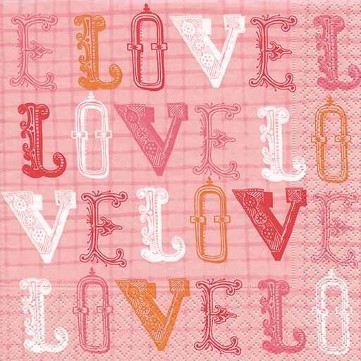Ubrousek 33x33 cm LOVE