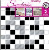 Samolepka na zeď mozaika plastická 2 ks x 25,5 x 25,5 cm