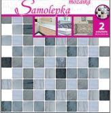Samolepka na zeď mozaika plastická 2ks x 25,5 x 25,5 cm