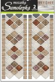 Samolepka na zeď mozaika plastická 2ks x 30 x 12 cm