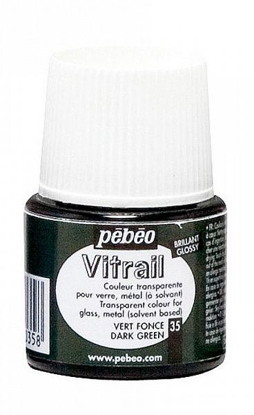 Barva na sklo Vitrail Pébéo - 35 tmavě zelená Pebeo