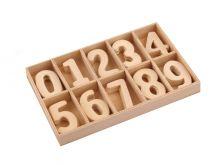 Dekorace dřevo ČÍSLICE 2,5 cm -  10ks