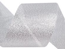 Zobrazit detail - Stuha řezaná s lurexem 50mm - 1m