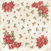 Rýžový papír VÁNOČNÍ RŮŽE 50 x 50 cm