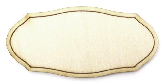 Dřevěný výsek PLAKETKA zdobená 10 cm - 1ks