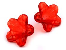 Korálek plast transparentní 12 mm KVĚT - 100ks