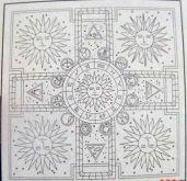 Zobrazit detail - Předguttovaný šátek ZVĚROKRUH  Pongé 5 90x90cm  - 1ks