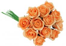 Dekorace kytice RŮŽÍ 19 cm - 12 květů