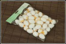 Zobrazit detail - AKČNÍ CENA: Dekorace Plastová vejce bílá 4cm - 48ks