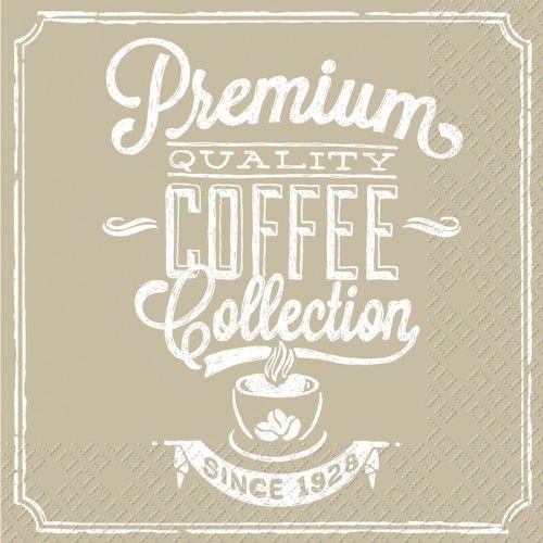 Ubrousky 33 x 33 cm PREMIUM COFFEE