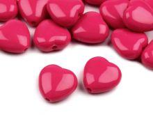 Korálky  plast srdce 13x13mm - 1 ks