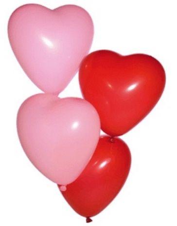 Nafukovací balonek SRDÍČKO červené - 1ks