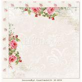 Kreativní oboustranný papír 190g/m2 RŮŽIČKY - 30,5 x 30,5 cm