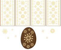 Velikonoční samolepky na vajíčka GELOVÉ sláma 19x9cm - 1ks