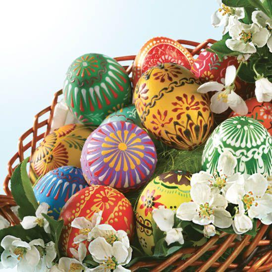 Ubrousek 33x33cm Velikonoční Kraslice k hobby tvorbě, dekoraci a na decoupage