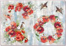 Zobrazit detail - Rýžový papír MÁKY 33x48cm