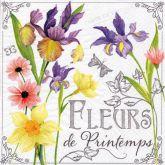 Ubrousek 33x33 cm Jarní květy