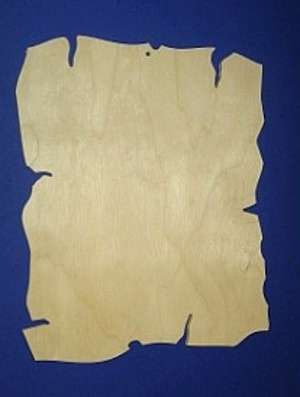 Dřevěný závěs s ozdobným okrajem 18x22cm 1ks