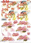 3D - Decoupage papír A4 KLOBOUKY