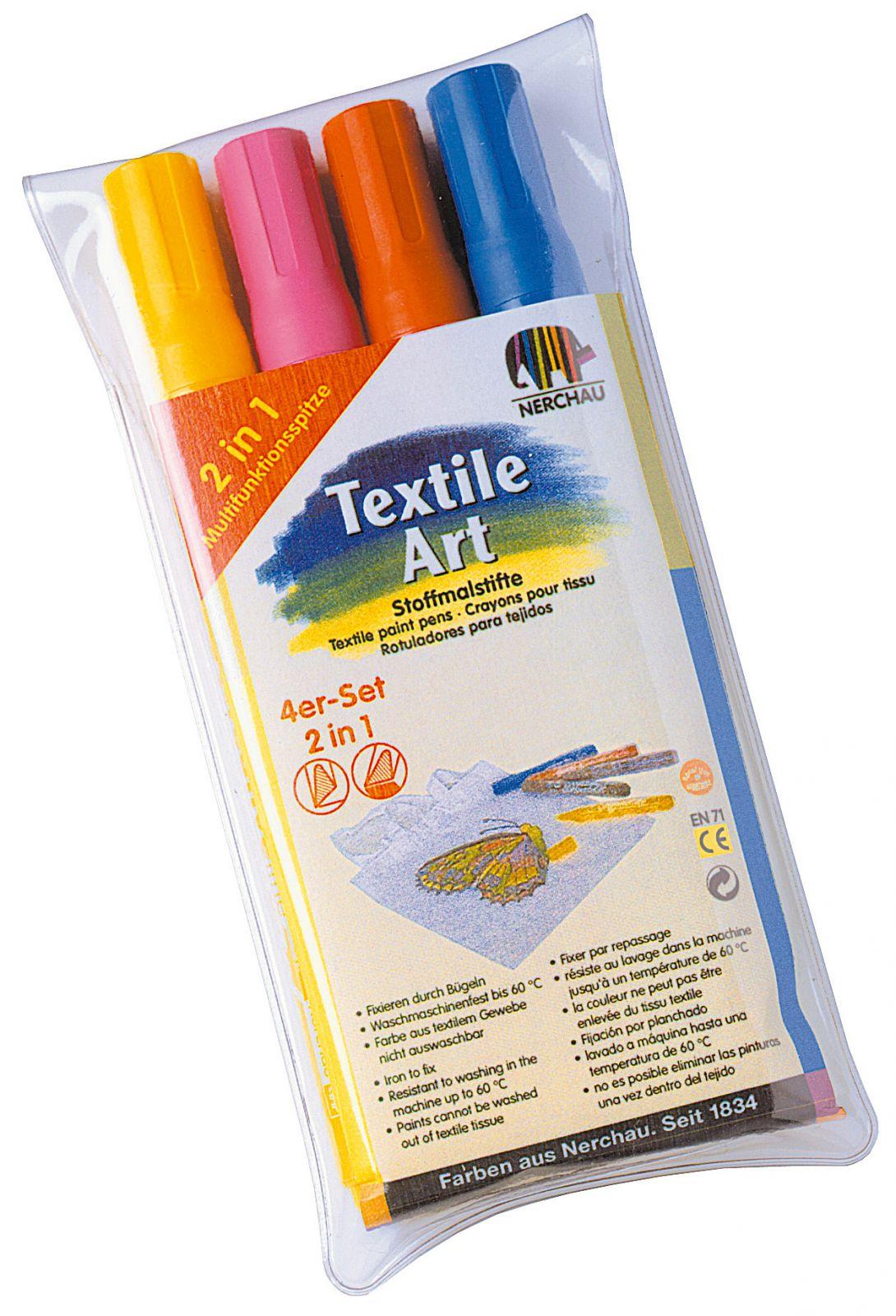 Fixy na textil Nerchau 2v1 - 4ks