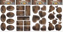 Samolepka imitace dřeva ne jen na kořenky 21 x 12 cm