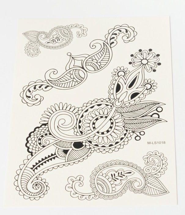 Tetovací obtisky KRAJKA 15x20cm