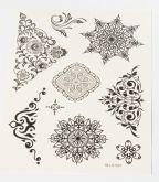 Tetovací obtisky ČERNÁ KRAJKA  15x20cm