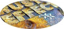 Akrylová Sada barev Efekt Rzi Pentart 5x20ml pro výrobu antického měděného povrchu
