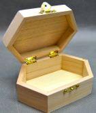 Dřevěná krabička Šestiúhelník II. 13 x 5cm