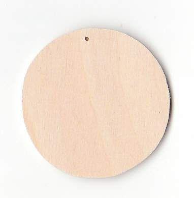 Dřevěný výsek s dírkou KOLEČKO 29 x 5 mm - 1ks