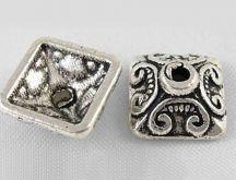 Kaplík Ø10 mm antik stříbrný - 11ks