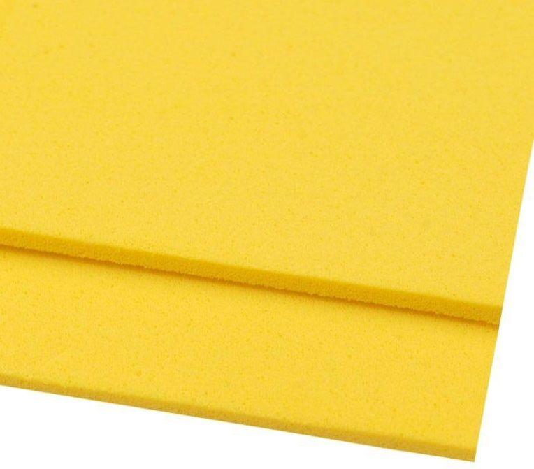 Pěnovka moosgummi žlutá 20x29 cm - 1ks