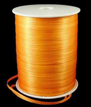 Stuha saténová /atlasová/ 3mm - 1m - Oranžová