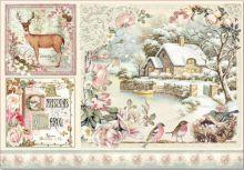 Decoupage rýžový papír VÁNOČNÍ 35x48cm