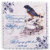 Dřevěný dekorační knoflík PSANÍ 31 x 33 mm - 1ks