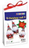 Sada na výrobu - Vánoční skřítci, 15,13,11cm- 3ks