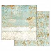 Kreativní oboustranný papír RŮŽE  A VÍLA 190g/m2 - 30,5 x 30,5 cm
