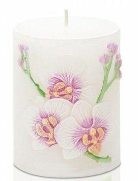 Dekorativní svíčka zn. Bartek - Orchidej ovál 70x90mm