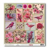 """Sada 9ks kreativních papírů """"Birds of Paradise"""" 30x30cm"""