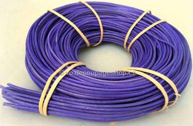 Barvený pedig 2 mm 240 gr Fialový vhodný na pletení košíků a výrobě dekorace