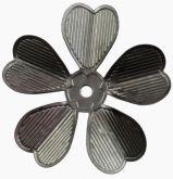 Dekorace kovová KVĚT 3,2 cm - 1ks