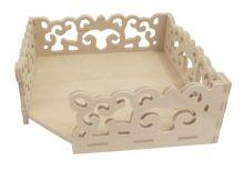 Dřevěný zásobník vyřezávaný 11 x 3,8 cm
