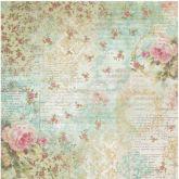 Rýžový papír RŮŽE A PÍSMO 50 x 50 cm