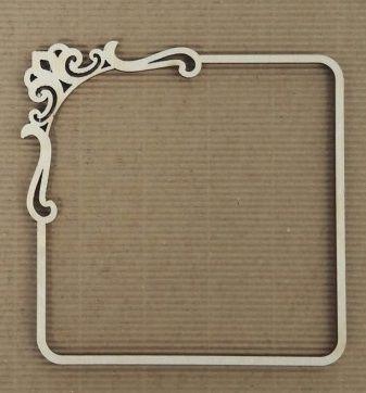 Dřevěný ozdobný rám 10cm pro dekoraci a zvýraznění tvorby a decoupage, fotografie aj.