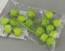 Dekorace jablíčka na drátku 2 cm - 1 ks