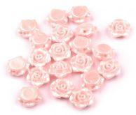 Plastový korálek - růžička s průvlekem Ø13 mm - 1ks