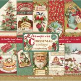 Sada papírů VINTAGE CHRISTMAS 170 g/m2 30x30cm - 10ks