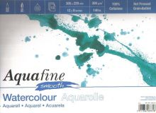 Akvarelový blok Aquafine Smooth 300g/m2  297 x 420mm - 12 listů